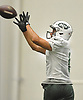 Chad Hansen #6 makes a catch during New York Jets Training Camp at the Atlantic Health Jets Training Center in Florham Park, NJ on Monday, Aug. 7, 2017.