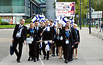 Lille - France- 05 October 2014 --  Euroskills 2014 competition, closing ceremony and medals. -- Team Finland arriving to the closing ceremony.  -- PHOTO: SkillsFinland / Juha ROININEN - EUP-IMAGES