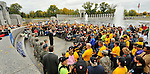 Honor Flag ceremony at the WWII Memorial.  Honor Flight Tennessee Valley #9 trip to Washington, D.C.   Bob Gathany photo.