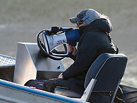 Putney, London,  Tideway Week, OUWBC. Oxford, Cheif Coach, Ali WILLIAMS, Championship Course. River Thames, <br /> <br /> Tuesday  28/03/2017<br /> [Mandatory Credit; Credit: Peter Spurrier/Intersport Images.com ]