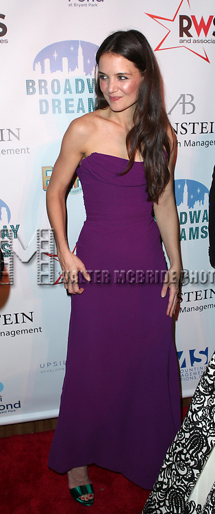 Katie Holmes attending the Broadway Dreams Foundation's 'Champagne & Caroling Gala' at Celsius at Bryant Park, New York on December 10, 2012