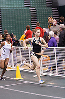 Emporia State's Katie Mona leads Lincoln's Twishana Williams in the 800 meters final.