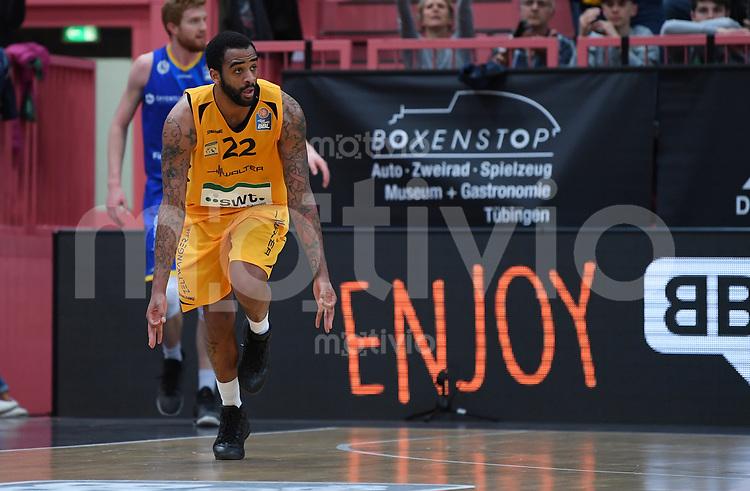 Basketball  1. Bundesliga  2016/2017  Hauptrunde  33. Spieltag  29.04.2017 Walter Tigers Tuebingen - Basketball Loewen Braunschweig JUBEL Tigers; Stanton Kidd