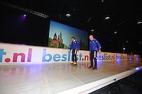 SCHAATSEN: ZAANDAM: 08-10-2013, Taets art Gallery, Perspresentatie Team Beslist.nl, Jurre Trouw (ass. trainer/coach) - Gerard van Velde (trainer/coach), ©foto Martin de Jong