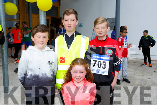 At the CBS, The Green Fun Run on Sunday were Caoileann O'Carroll,  Oran Tobin, Tyrion O'Carroll,  Oisin Tobin
