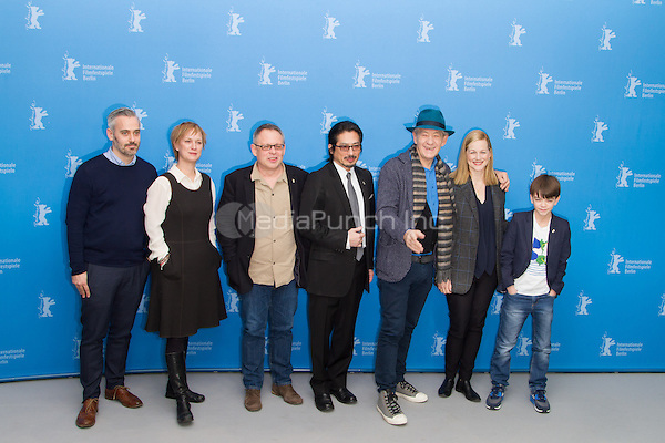 Iain Canning, Anne Carey, Bill Condon, Hiroyuki Sanada, Ian McKellen, Laura Linney and Parker Milo attending the Mr. Holmes photocall during Berlinale International Film Festival, Berlin, Germany, 08.02.2015. <br /> Photo by Christopher Tamcke/insight media /MediaPunch ***FOR USA ONLY***