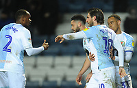 Blackburn Rovers' Danny Graham celebrates scoring the opening goal with team-mates<br /> <br /> Photographer Kevin Barnes/CameraSport<br /> <br /> The EFL Sky Bet Championship - Blackburn Rovers v Wigan Athletic - Tuesday 12th March 2019 - Ewood Park - Blackburn<br /> <br /> World Copyright © 2019 CameraSport. All rights reserved. 43 Linden Ave. Countesthorpe. Leicester. England. LE8 5PG - Tel: +44 (0) 116 277 4147 - admin@camerasport.com - www.camerasport.com