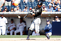 Ichiro Suzuki (Marlins), JUNE 15, 2016 - MLB : Miami Marlins' Ichiro Suzuki hits a double during the ninth inning of a Major League Baseball game between San Diego Padres and Miami Marlins at the Petco Park in Petco Park, California, United States. Ichiro Suzuki recorded his 4257th professional baseball hit. (Photo by AFLO)