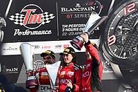 #961 AF CORSE (ITA) FERRARI 488 GT3 ALEX DEMERDJIAN (LBN) DAVIDE RIZZO (ITA) ABIGAIL EATON (GBR) WINNER IN AM CUPECOND ON AM CUP AM CUP