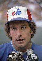 Gary Carter au All Star Workout, le 12 juillet 1982<br /> <br /> <br /> PHOTO : Agence Quebec Presse
