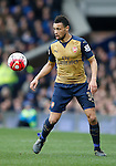 Francis Coquelin of Arsenal during the Barclays Premier League match at The Goodison Park Stadium. Photo credit should read: Simon Bellis/Sportimage
