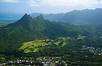 Mt Olomana, Windward Oahu, Kailua