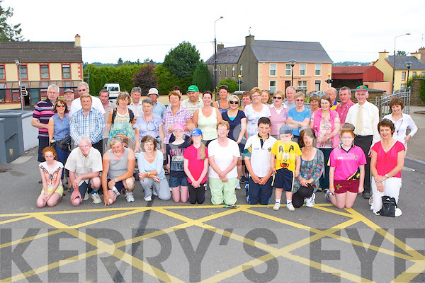 The large crowd that participated in the historical walk in Rathmore on Sunday morning
