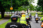 LONDON, ENGLAND, 22 May ,2014.  Bikers travel to Woolwich to mark the first anniversary of the murder of Fusilier Lee Rigby  near his Woolwich barracks.