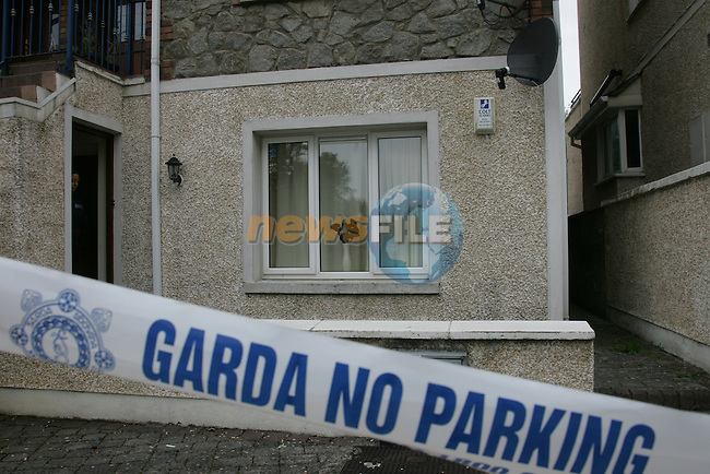 Garda sealed off an apartment in the Sienna complex in Drogheda  in the early hours of Tuesday morning after a gun shot was fired through the front window of the appartment. No body was injured in the attack..Photo: Fran Caffrey/www.newsfile.ie...
