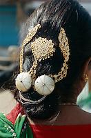 Haarschmuck in  Bikaner (Rajasthan), Indien
