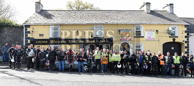 Some of the bikers who took part in the Rory Smith memorial run in aid of SOSAD. Photo:Colin Bell/pressphotos.ie