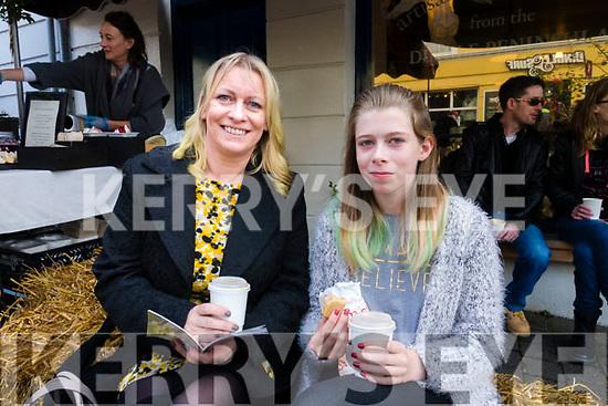 Tricia and Aisling O'Sullivan, Annascaul, enjoying the Dingle Food Festival on Saturday afternoon last.