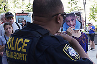 Washington, DC - July 2, 2019: Dozens of people gathered at the U.S. Customs and Border Protection's Washington, DC headquarters on July 02, 2019 to rally for Protect Immigrant Children-Stop the Abuses and Deaths in Washington DC. July 2, 2019. (Photo by Lenin Nolly/Media Images International)