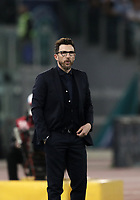 Calcio, Serie A: S.S. Lazio - A.S. Roma, stadio Olimpico, Roma, 15 aprile 2018. <br /> Roma's coach Eusebio Di Francesco looks on during the Italian Serie A football match between S.S. Lazio and A.S. Roma at Rome's Olympic stadium, Rome on April 15, 2018.<br /> UPDATE IMAGES PRESS/Isabella Bonotto