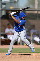 Chicago Cubs outfielder Yasiel Balaguert (25) during an Instructional League game against the Oakland Athletics on October 16, 2013 at Papago Park Baseball Complex in Phoenix, Arizona.  (Mike Janes/Four Seam Images)