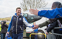 Lee Mansell of Bristol Rovers arrives during the Sky Bet League 2 match between Wycombe Wanderers and Bristol Rovers at Adams Park, High Wycombe, England on 27 February 2016. Photo by Andrew Rowland.