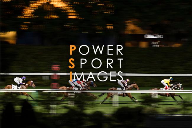 Jockey Derek Leung Ka-chun riding Emperor Victory (C) runs to win the race 3 during Hong Kong Racing at Happy Valley Racecourse on September 13, 2017 in Hong Kong, China. Photo by Marcio Rodrigo Machado / Power Sport Images