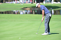 Rory McIlroy (NIR) sinks hit putt on 6 during round 2 of the World Golf Championships, Mexico, Club De Golf Chapultepec, Mexico City, Mexico. 3/3/2017.<br />