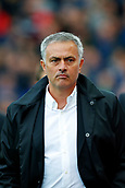 9th September 2017, bet365 Stadium, Stoke-on-Trent, England; EPL Premier League football, Stoke City versus Manchester United; Manchester United Manager Jose Mourinho looks dejected