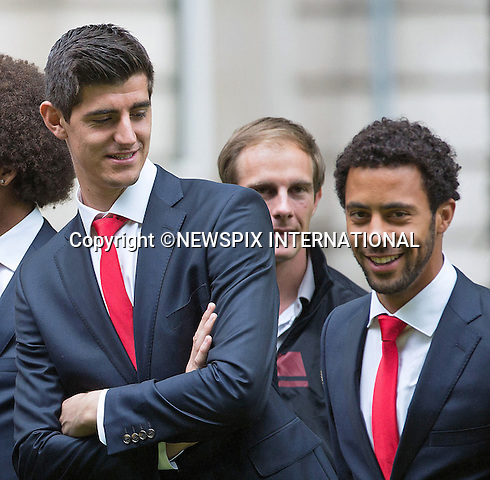 THIBAUT COURTOIS AND MOUSA DEMBELE<br /> QUEEN MATHILDE AND KING PHILIPP<br /> meet members of the Belgian World Cup Football Team at the Royal Palace, Brussels_08/07/2014<br /> Mandatory Credit Photo: &copy;NEWSPIX INTERNATIONAL<br /> <br /> **ALL FEES PAYABLE TO: &quot;NEWSPIX INTERNATIONAL&quot;**<br /> <br /> IMMEDIATE CONFIRMATION OF USAGE REQUIRED:<br /> Newspix International, 31 Chinnery Hill, Bishop's Stortford, ENGLAND CM23 3PS<br /> Tel:+441279 324672  ; Fax: +441279656877<br /> Mobile:  07775681153<br /> e-mail: info@newspixinternational.co.uk