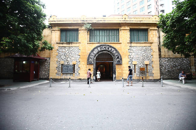 """The entrance to the former Hoa Lo prison in Hanoi, Vietnam. Known as the """"Hanoi Hilton"""" to U.S. pilots held there after being shot down during the Vietnam War, most of the structure was demolished after the conflict ended. The museum focuses primarily on the brutal conditions under which Vietnamese political prisoners were held during the French colonial era. Oct. 27, 2012."""