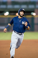 AZL Brewers third baseman Julian Jarrard (39) hustles towards third base against the AZL Giants on August 15, 2017 at Scottsdale Stadium in Scottsdale, Arizona. AZL Giants defeated the AZL Brewers 4-3. (Zachary Lucy/Four Seam Images)
