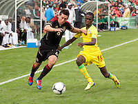 San Francisco, California - Saturday March 17, 2012: Hector Herrera and Souleymane Cisse in action during the Mexico vs Senegal U23 in final Olympic qualifying tuneup. Mexico defeated Senegal 2-1