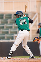 Shortstop Juan Ciriaco (35) of the Augusta GreenJackets at bat at Fieldcrest Cannon Stadium in Kannapolis, NC, Wednesday August 20, 2008. (Photo by Brian Westerholt / Four Seam Images)
