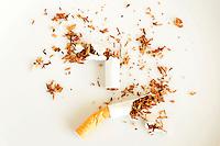 Torn up cigarette