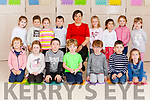 Children attending their first day at school at Meenkilly N.S. pictured with their teacher Mrs. Patricia Kiely. <br /> Front: Karolina Sugars, Lauren O' Sullivan, Conor Keogh, Mathew O' Connor, David O' Sullivan, Richie Browne, Hannah Quirke. <br /> Back: Abbie McCarthy, Brooklyn Busten, Aoife O' Connell, Liam Gleeson, Emma Doody, Isabelle Dangelo, Kate Roche, Allie Cahill.