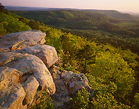 Petit Jean State Park, AR<br /> Cedar Creek Valley from a rock outcrop on M.A. Ritcher overlook