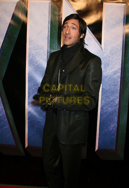 "ADRIEN BRODY.Universal Pictures' ""King Kong"" New York City Premiere - Arrivals at Loews E-Walk & AMC Empire Cinemas, New York City..December 5th, 2005 .Ref: IW.half length black jacket gloves trousers Adrian .www.capitalpictures.com.sales@capitalpictures.com.©Capital Pictures"