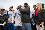 EUGENE, OR - JUNE 09: Head Coach Mike Holloway of the University of Florida celebrates their team victory during the Division I Men's Outdoor Track & Field Championship held at Hayward Field on June 9, 2017 in Eugene, Oregon. (Photo by Jamie Schwaberow/NCAA Photos via Getty Images)
