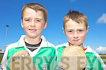 BEST MATES: Enjoying the GAA Cu?l Camp at Ballyduff GAA Grounds last Friday were Kevin Golden and Aidan O'Connor.