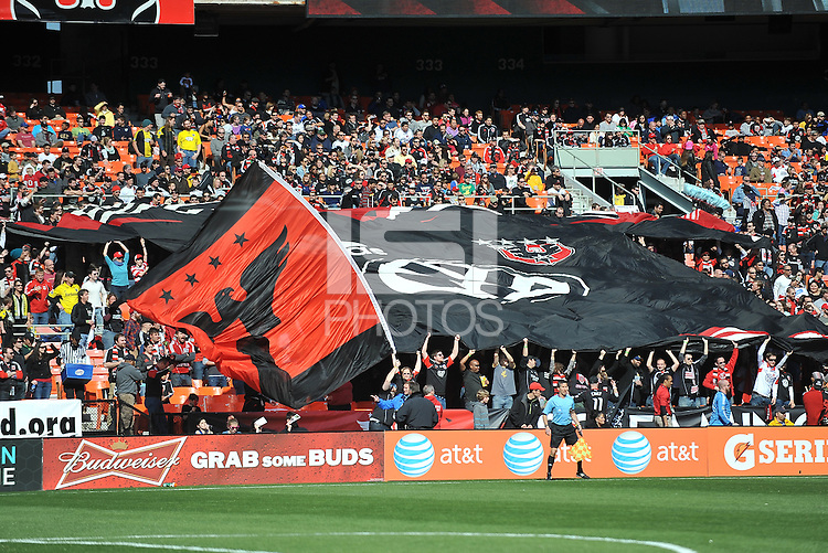 D.C. United fans. The Columbus Crew defeated D.C. United 2-1 ,at RFK Stadium, Saturday March 23,2013.