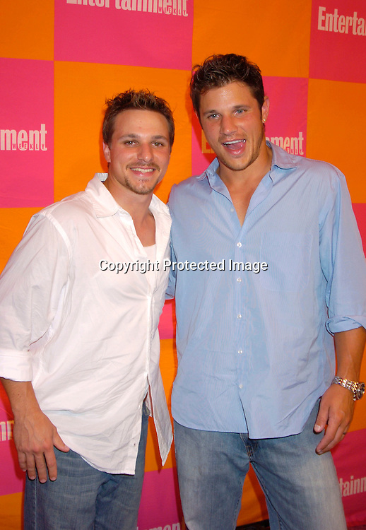 """Drew Lachey and Nick Lachey ..at The Entertainment Weekly's """"The Must List"""" party at ..Crobar in New York City on June 17, 2004. ..Photo by Robin Platzer, Twin Images"""