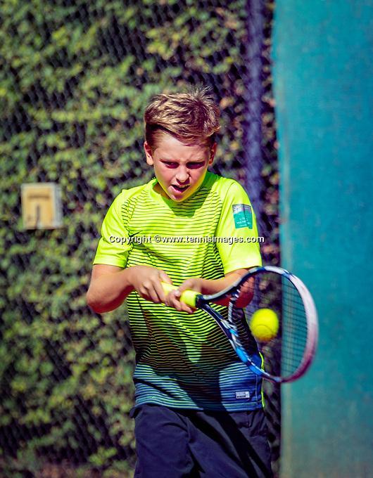 Hilversum, Netherlands, August 6, 2018, National Junior Championships, NJK,Teun Gries (NED)<br /> Photo: Tennisimages/Henk Koster