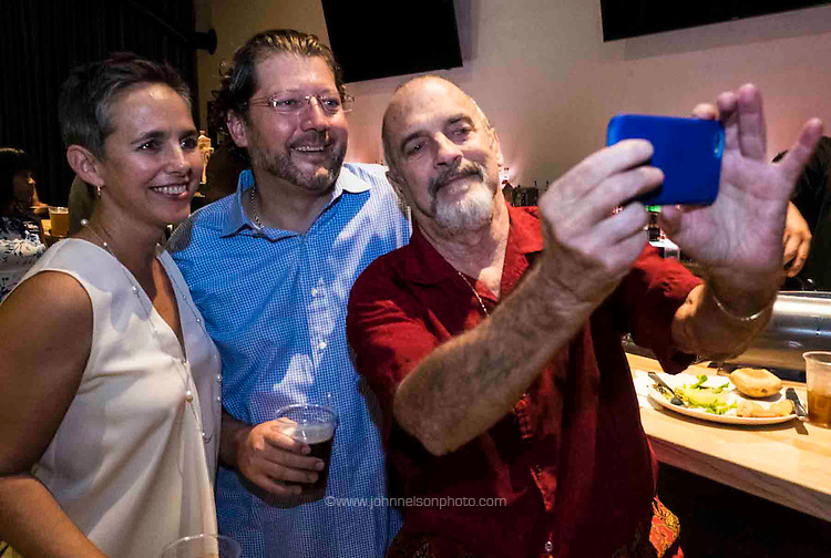 Birthday celebration for DC council member David Grosso at Ivy City Smokehouse in Washington, DC<br /> <br /> PHOTOS/John Nelson