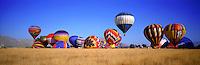 Desert Scenics, Hot Air Balloons over Palm Desert, California. Near Palm Springs and Indio California