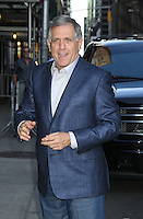 May 17, 2012: Leslie Moonves at Late Show with David Letterman to talk about Conan talk show in New York City. Credit: RW/MediaPunch Inc.