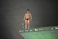 Great Britain's Tom Daley competing in the Men's 10m platform semifinal B<br /> <br /> Photographer Hannah Fountain/CameraSport<br /> <br /> FINA/CNSG Diving World Series 2019 - Day 3 - Sunday 19th May 2019 - London Aquatics Centre - Queen Elizabeth Olympic Park - London<br /> <br /> World Copyright © 2019 CameraSport. All rights reserved. 43 Linden Ave. Countesthorpe. Leicester. England. LE8 5PG - Tel: +44 (0) 116 277 4147 - admin@camerasport.com - www.camerasport.com