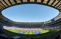 A general view of Twickenham Stadium as the Bath Rugby team run out. The Clash, Aviva Premiership match, between Bath Rugby and Leicester Tigers on April 8, 2017 at Twickenham Stadium in London, England. Photo by: Rob Munro / Onside Images