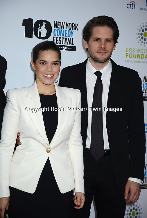 America Ferrera and husband Ryan Piers Williams attend the 7th Annual Stand Up For Heroes Event benefitting The Bob Woodruff Foundation on<br />  November 6, 2013 at the Theater at Madison Square Garden in New York City. This is the opening night of the <br /> New York Comedy Festival.