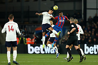 23rd November 2019; Selhurst Park, London, England; English Premier League Football, Crystal Palace versus Liverpool; Dejan Lovren of Liverpool tussles for a header with Jordan Ayew of Crystal Palace - Strictly Editorial Use Only. No use with unauthorized audio, video, data, fixture lists, club/league logos or 'live' services. Online in-match use limited to 120 images, no video emulation. No use in betting, games or single club/league/player publications
